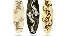 Tablas de surf con decoración