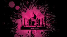 Taj Mahal estilo grunge rosa y negro