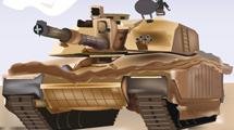 Tanque de guerra marrón