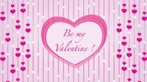 "Tarjeta ""Be My Valentine"""