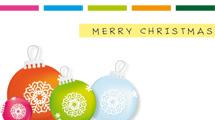 Tarjeta con adornos de Navidad