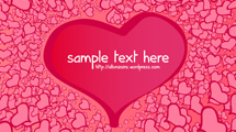 Tarjeta con corazones rosas