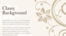Tarjeta con diseño clásico floral