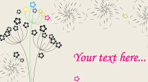 Tarjeta con flores de tallo fino