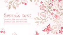 Tarjeta con flores rosadas y texto