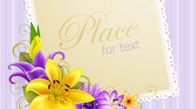 Tarjeta con marcos florales