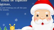 Tarjeta con Papa Noel