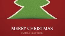 Tarjeta con árbol navideño