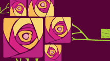 Tarjeta con rosas geométricas
