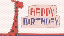 Tarjeta de cumpleaños con jirafa