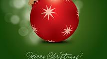 Tarjeta de Navidad con adorno