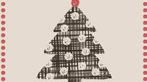 Tarjeta de Navidad con adornos