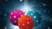 Tarjeta de Navidad con estrellas