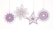 Tarjeta de Navidad con flores