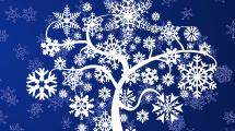 Tarjeta de Árbol de Invierno