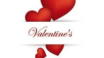 Tarjeta de San Valentín: Banner con fondo de corazones