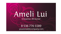 Tarjeta personal: Modelo rosa oscuro con adornos