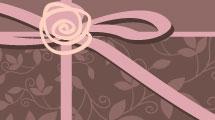 Tarjeta romántica con rosa