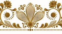 Tarjetas con flores doradas