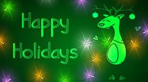 Tarjetas de Navidad con renos