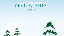 Tarjetas de Navidad nevadas