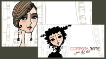 Tarjetas personales con rostros femeninos