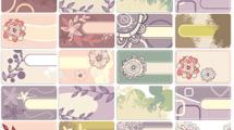 Tarjetas personales: Diseños pasteles con curvas