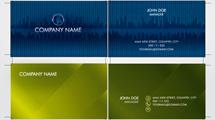 Tarjetas personales: Modelos en azul y verde abstractos