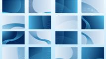 Tarjetas personales: Plantillas azules