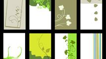 Tarjetas verticales floreadas