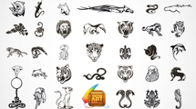 Tatuajes de animales en negro