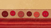 Tela y botones rojos