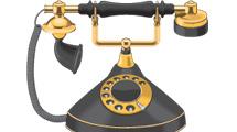 Teléfono clásico con detalles dorados