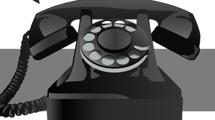 Teléfono retro negro