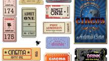 Tickets de cine vintage
