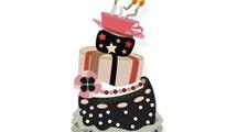 Torta de cumpleaños de varios pisos