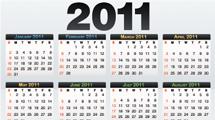 Tres calendarios 2011