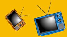 Tres modelos de tv estilo retro