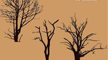 Tres árboles muertos