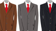 Tres trajes masculinos