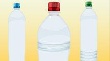 Trío de botellas de agua vacías