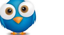 Twitter con globo de texto