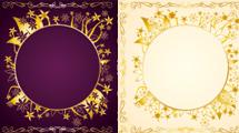 Variedad de marcos dorados