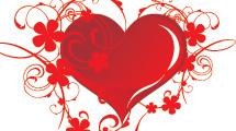 Varios diseños de fondos con corazones