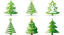 Varios diseños de Navidad