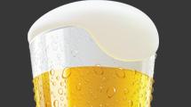 Vaso de cerveza helada