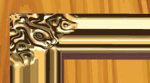 Vector: marco dorado
