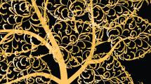 Vector: Árbol dorado