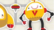 Vector set: robots