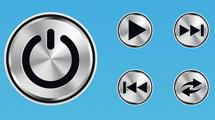 Vectores de botones de metal
